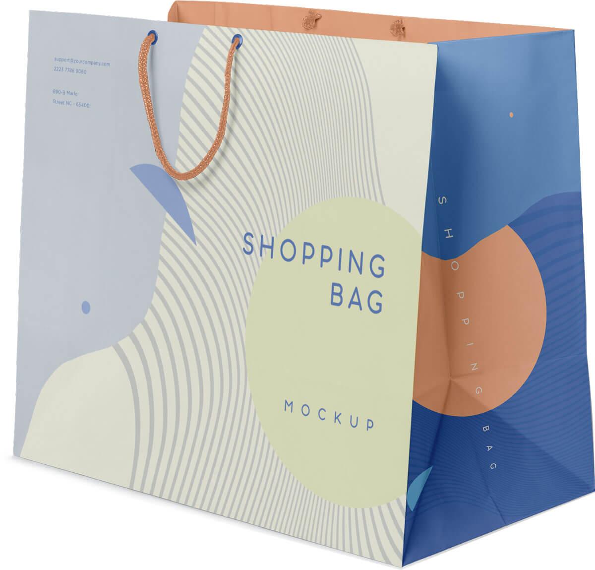 Exklusive Papiertaschen weiß oder braun ohne Laminierung